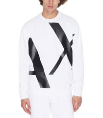 ax armani exchange long sleeve crew neck logo sweatshirt