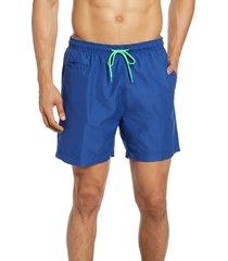 men's trunks surf & swim co. sano swim trunks, size large - blue