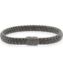 men's john hardy men's classic chain black rhodium plate bracelet