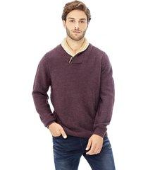 sweater tejido schawl chiporro rojo corona