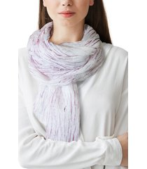 women's nicoletta rosi hand painted fringe scarf, size one size - purple