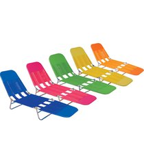cadeira espreguiçadeira mor, aço, cores sortidas - 2411