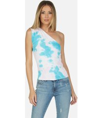 atwood tank - pink/turquoise tie dye s