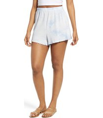 women's billabong breeze by shorts, size large - blue