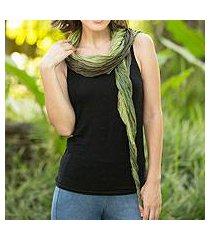 silk scarf, 'summer forest' (thailand)