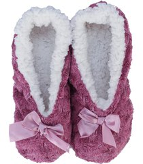 womens bow slipper socks
