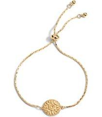 women's sterling forever sun disc bolo bracelet