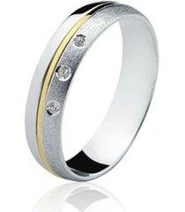 aliança prata 925 filete de ouro elegance natalia joias alp-05