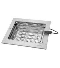churrasqueira elétrica cooktop felesa 2200w 60hz inox 220v