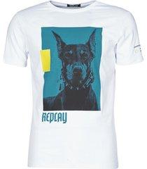 t-shirt korte mouw replay m3158