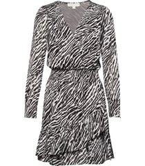 safari rfl dress korte jurk zwart michael kors