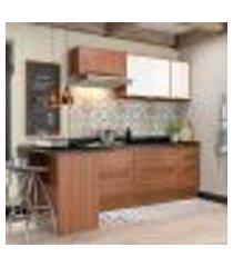 cozinha completa calábria ii 7 pt 4 gv nogueira e branca