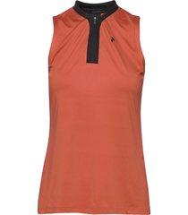 turf zip sl women t-shirts & tops polos oranje peak performance