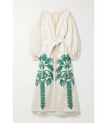 moon sight appliquéd cotton-poplin maxi dress