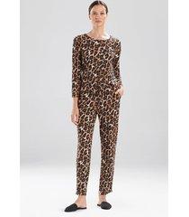 ombre leopard pants sleepwear pajamas & loungewear, women's, size l, n natori