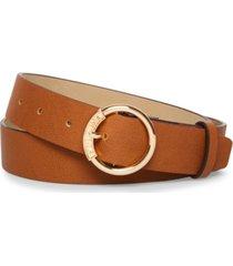 steve madden logo-buckle belt