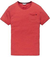 cast iron t-shirt rood ronde hals