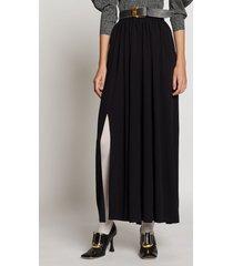 proenza schouler belted jersey skirt black 4