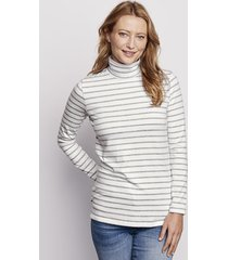 striped perfect turtleneck tunic, gray/white, x large
