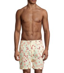 solid and striped men's the kennedy floral swim shorts - cream daisy - size s