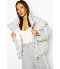 oversized puffer jacket, grey