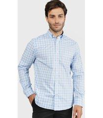 camisa nautica azul - calce regular