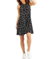 anne klein gwen dot-print knit dress