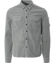 cp company long sleeve corduroy shirt | grey |288a-5899