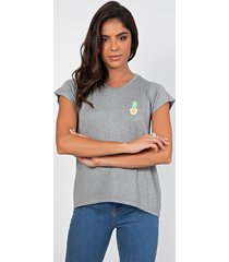 t-shirt myah cacto cinza