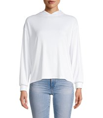 love ady women's ribbed hoodie - white - size s