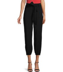 bailey 44 women's adrian belted cropped pants - black - size xl