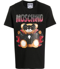 moschino bat teddy bear t-shirt - black