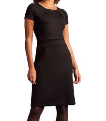 mona dress milano crepe black