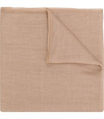 brunello cucinelli fine knit scarf - brown