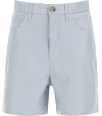 nanushka leana vegan leather shorts