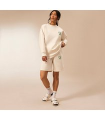 river island womens ecru ri studio long sleeve sweatshirt