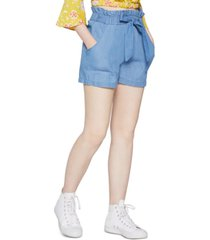bcbgeneration woven paperbag shorts