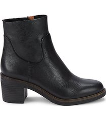 leighton leather booties