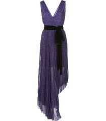 alice+olivia high-low hem dress - purple