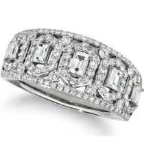 le vian baguette & round vanilla diamond ring (3/4 ct. t.w.) in platinum