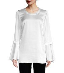 bcbgmaxazria women's bell-sleeve top - black - size xs