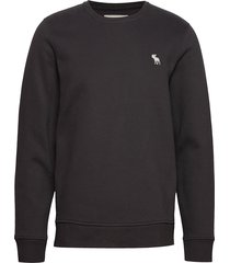 icon crew sweat-shirt tröja svart abercrombie & fitch