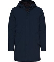 deston campaign hood parka jas blauw matinique