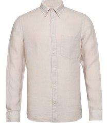 fredrik bd-clean linen overhemd casual crème j. lindeberg