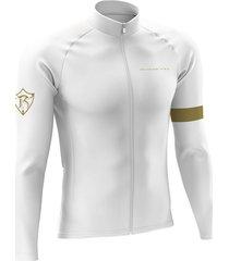 jersey largo invierno performance blanco dorado