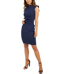 quiz tie-front bodycon dress