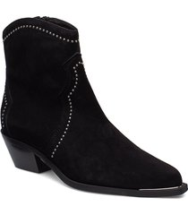 booties 3703 shoes boots ankle boots ankle boots with heel svart billi bi