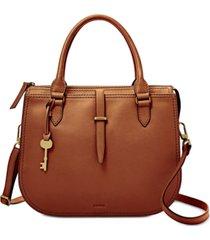 fossil ryder leather medium satchel