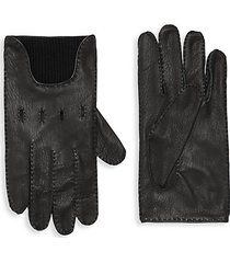 merino wool-lined leather gloves