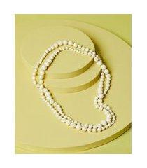 colar de resina - colar harlem cor: branco - tamanho: único